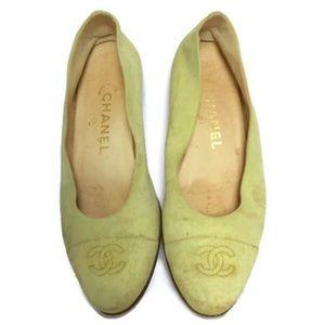 Chanel Suede CC Flats Size 36.5/6.5 US